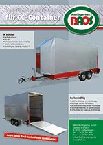 Flyer CC-Container Anhänger BAOS