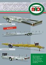 Flyer Langmaterialanhänger Gerätetransporter BAOS